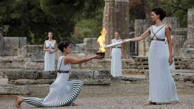 Photo of No spectators at Tokyo 2020 Games torch lighting ceremony