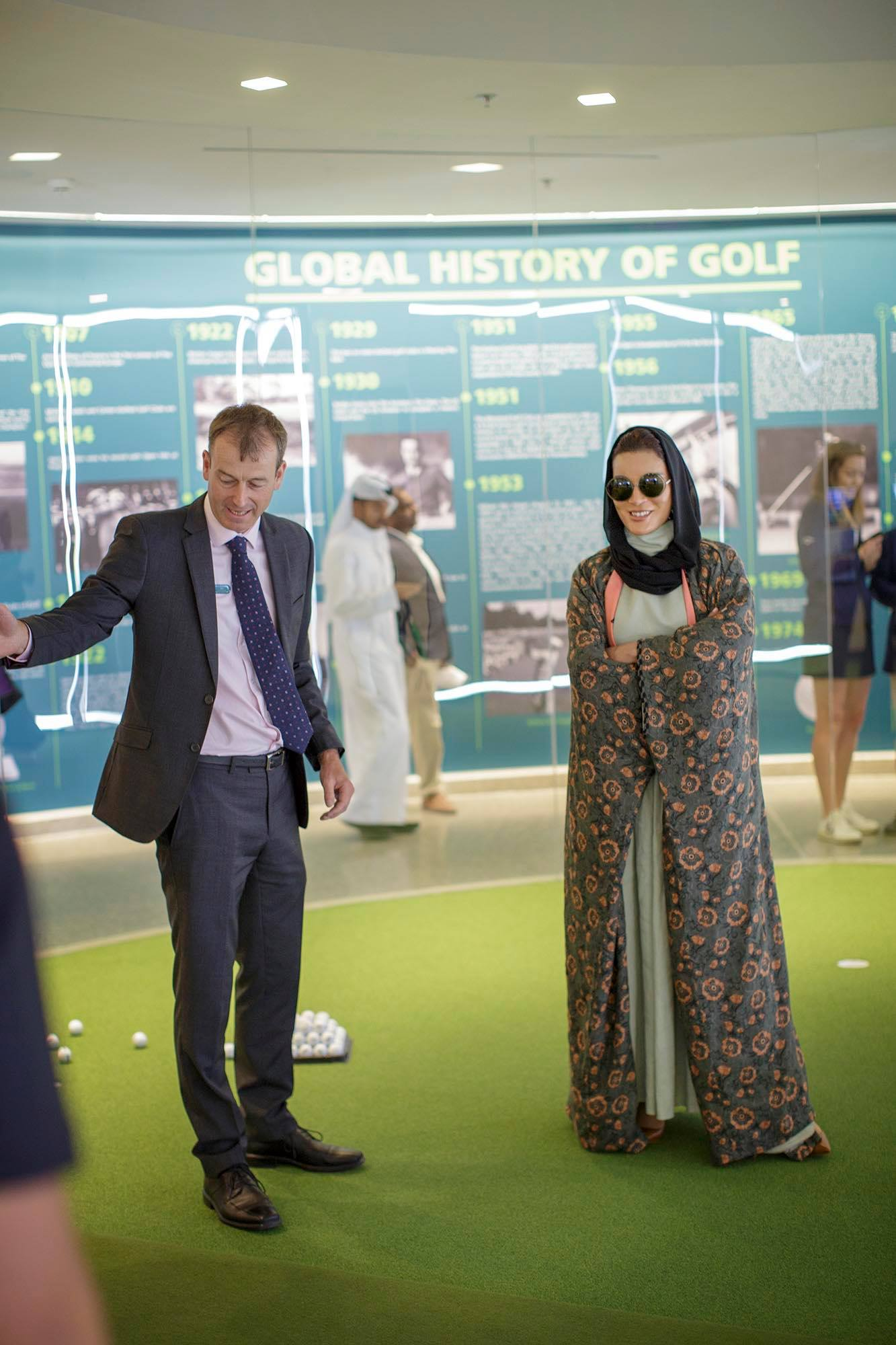 Sheikha Moza attends Education City Golf Club opening
