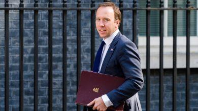 Photo of British Health Minister Tests Positive for coronavirus