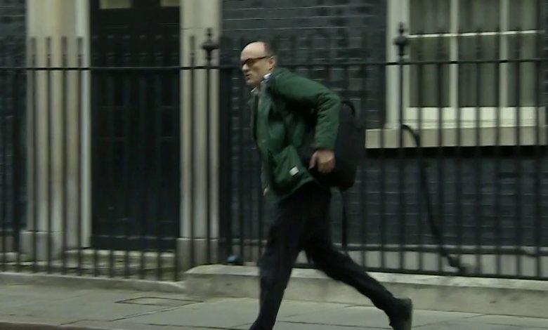 British Prime Minister Adviser spotted running away as Boris Johnson tests positive for coronavirus