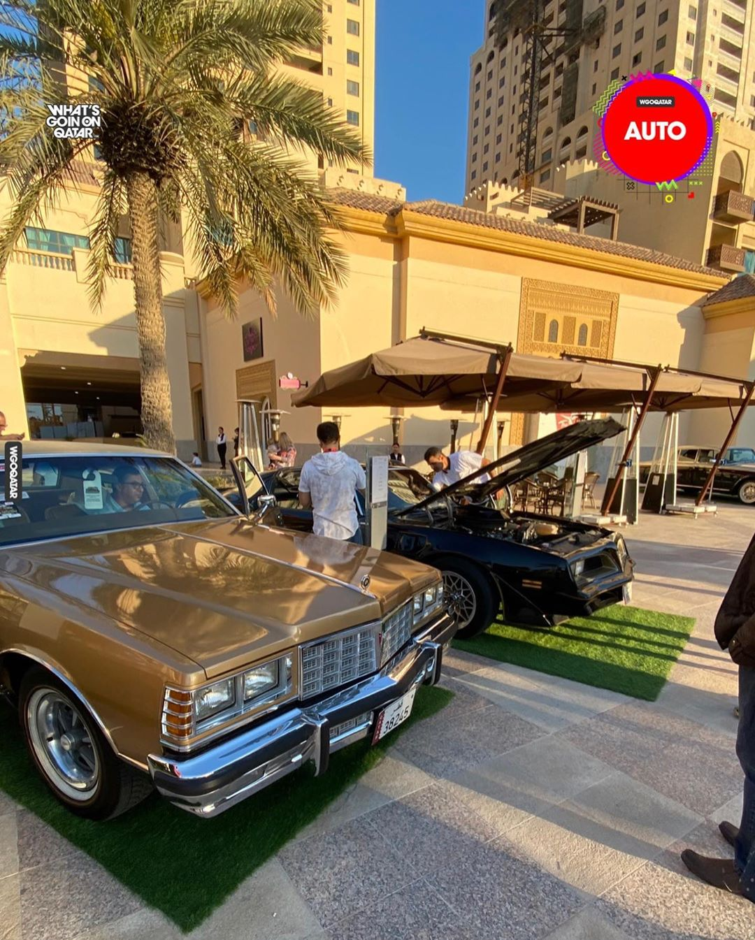 Classic cars show at the Pearl