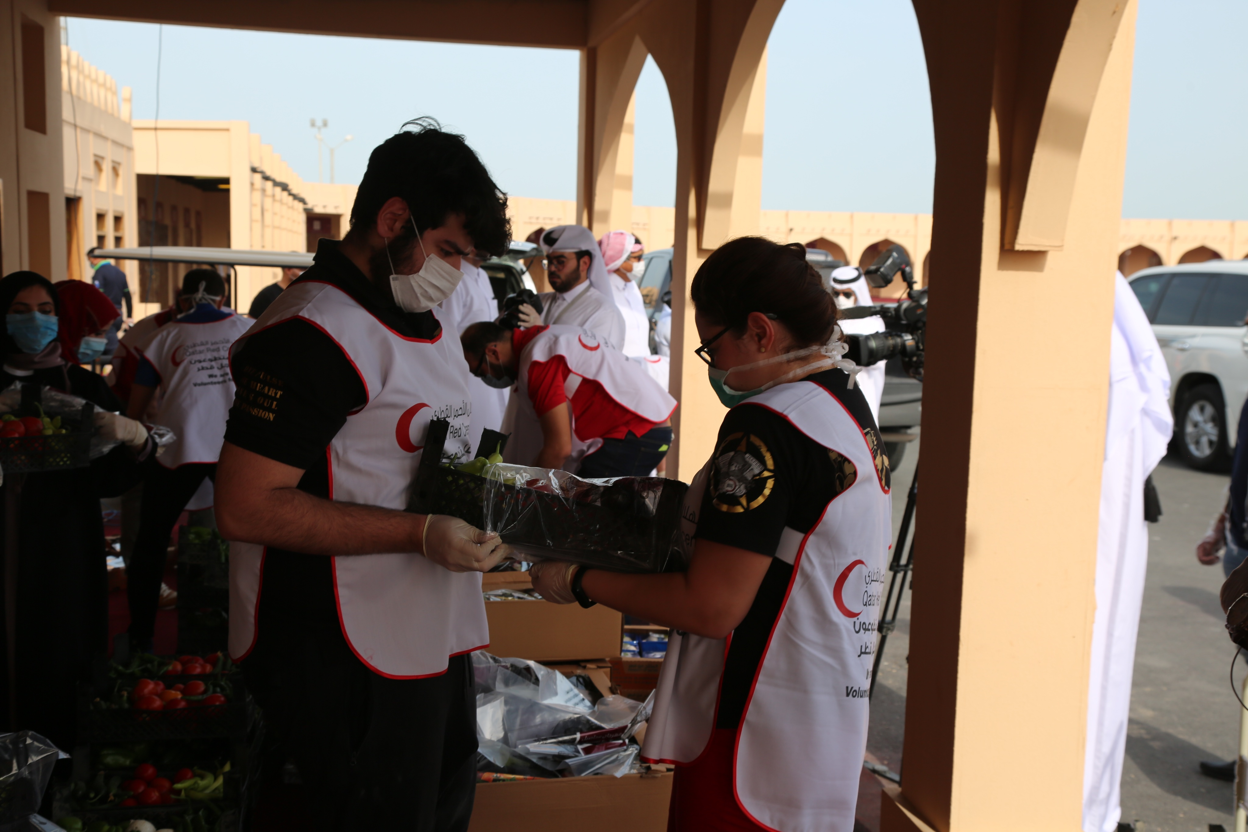 QRCS volunteers actively engage in coronavirus control efforts