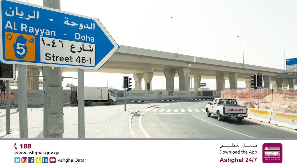 Ashghal Opens 2 New Intersections on Industrial Area Streets 41 and 1110