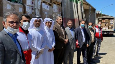 Photo of Third shipment of Qatar aid arrives in Iran