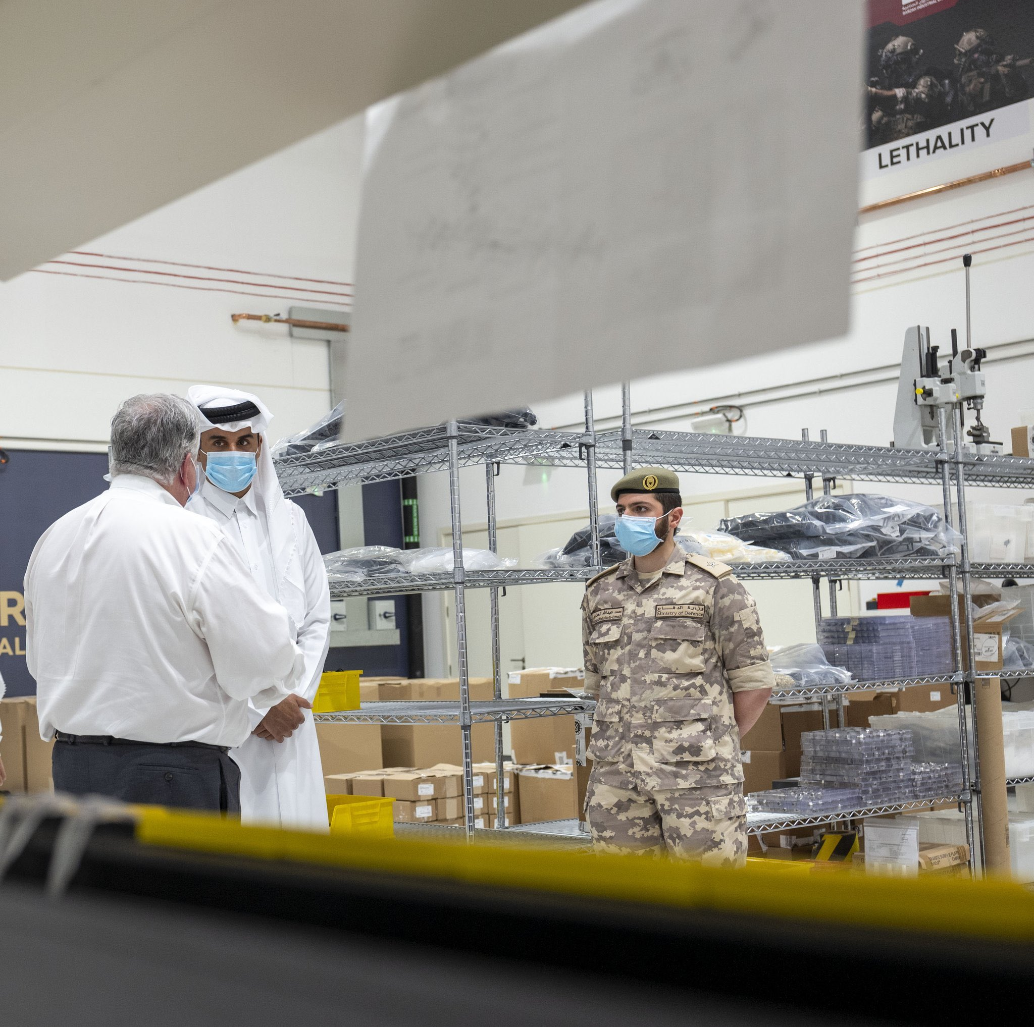 Amir Inspects the Production of Artificial Respirators at Barzan Holding Company