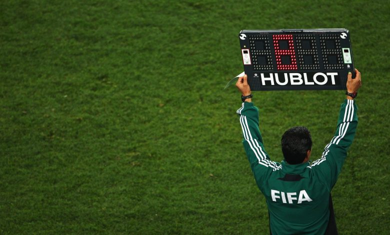 FIFA proposes up to five substitutions per match on a temporary basis
