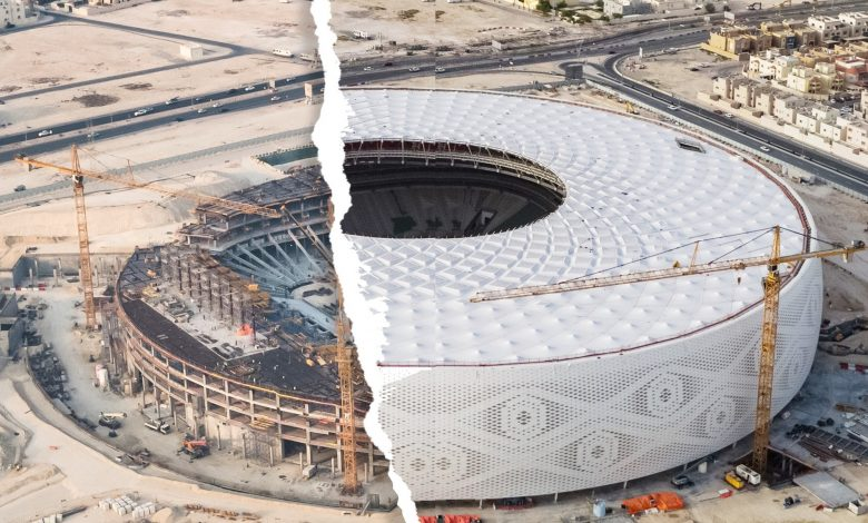 Continuous work at Al Thumama World Cup Stadium