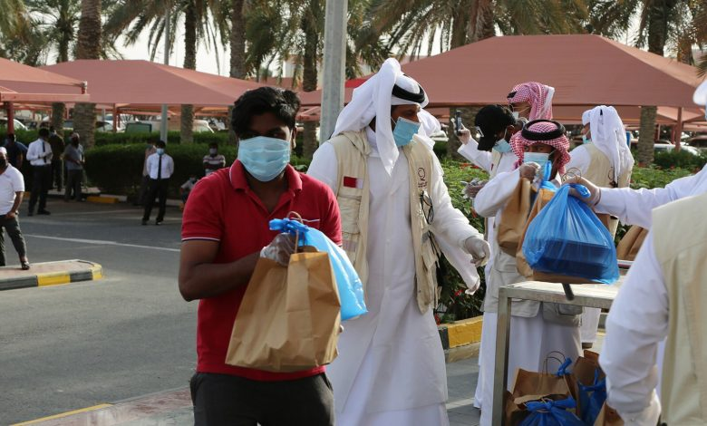Qatar Charity distributes health bags to workers at Al Furjan and Al Mazroua markets