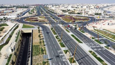 Photo of New intersection and service road on Huwar Street partially open