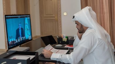 Photo of Sheikh Joaan attends Olympic Refuge Foundation meeting