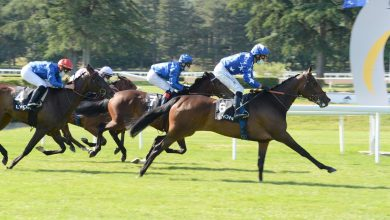 "Photo of Filly ""Listen To Me"" wins Prix Paul Dugas"