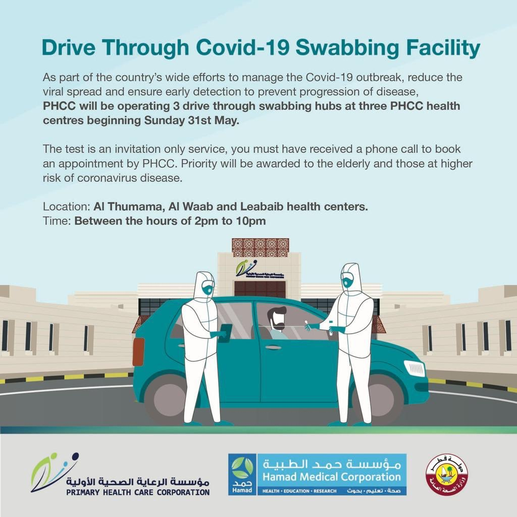PHCC opens 3 drive through swabbing hubs for Covid-19