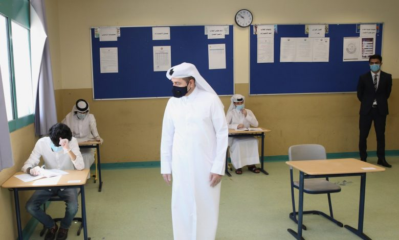 Education Minister visits examination centers