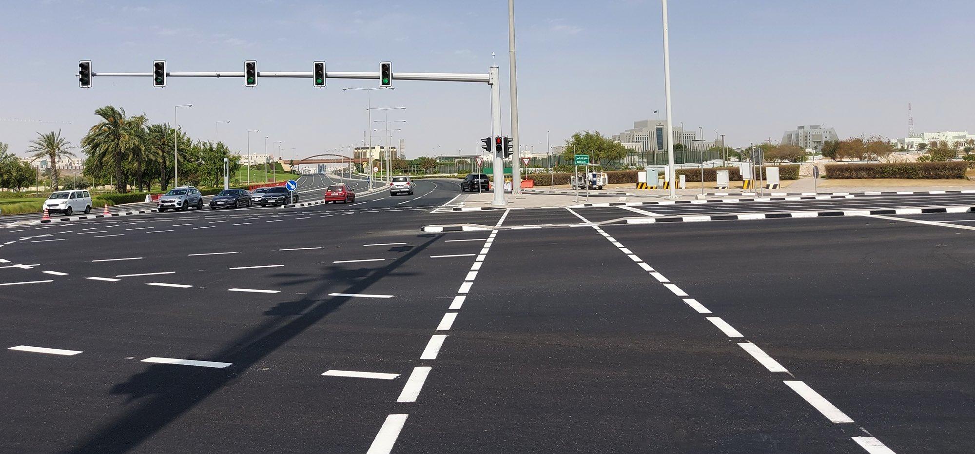 Asphalt works finished at Wadi Al Sail intersection