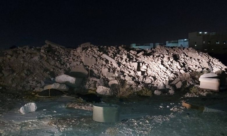 MME takes action against throwing construction wastes in residential areas