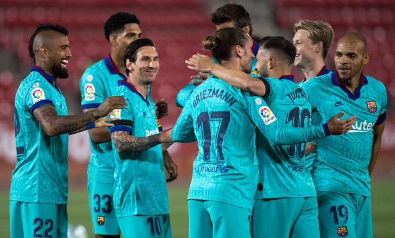 Messi leads Barca to flying return against Mallorca