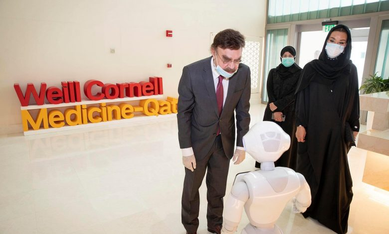 Sheikha Moza attends inauguration of WHO Collaborating Center for infectious diseases in WCM-Q