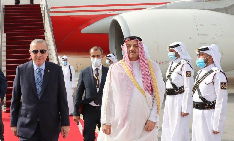 Turkish President arrives in Doha
