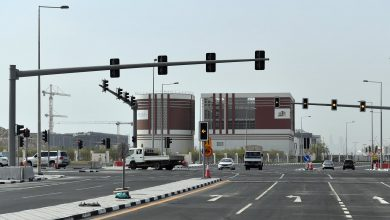 Photo of Al Tarfa Intersection open to traffic after completion of upgrading works