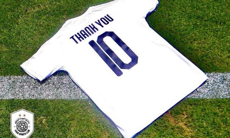 Al Sadd players make a wonderful gesture to 'warriors in white coats'