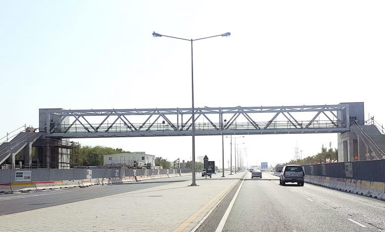 The first footbridge in Al-Wakra is nearing completion
