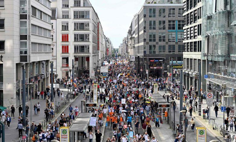 Demonstration Against Anti-Coronavirus Policy in Germany