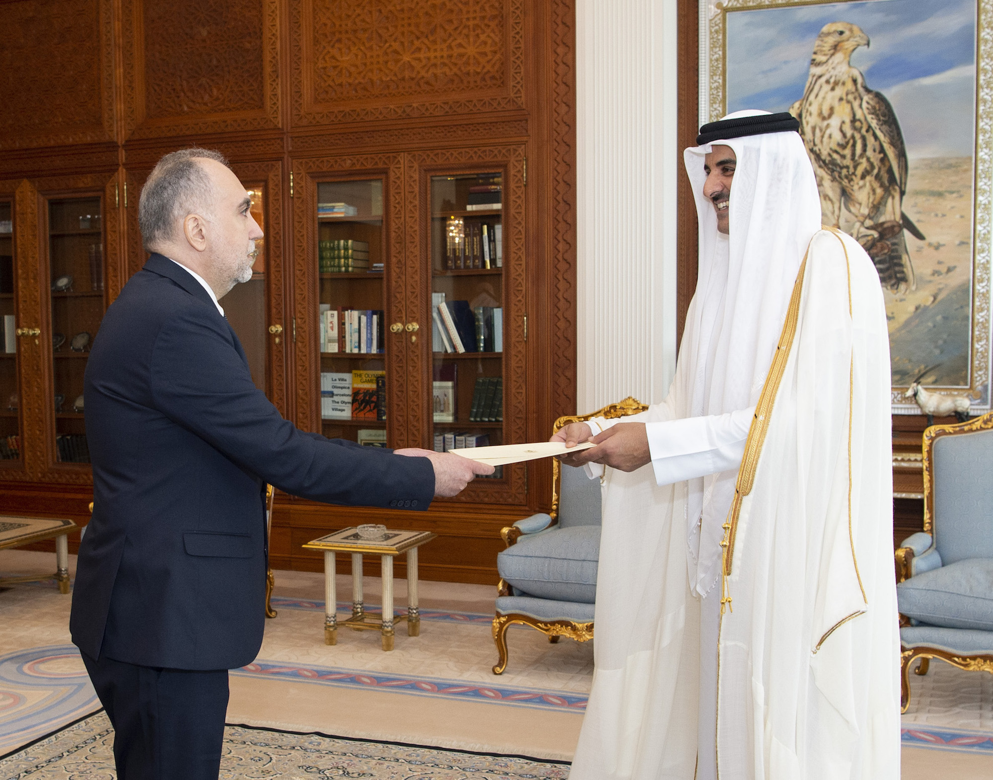 Amir receives credentials of new Ambassadors