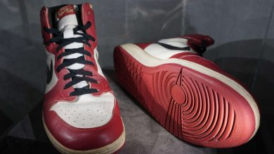 Photo of Michael Jordan's sneakers sell for $615,000, new record