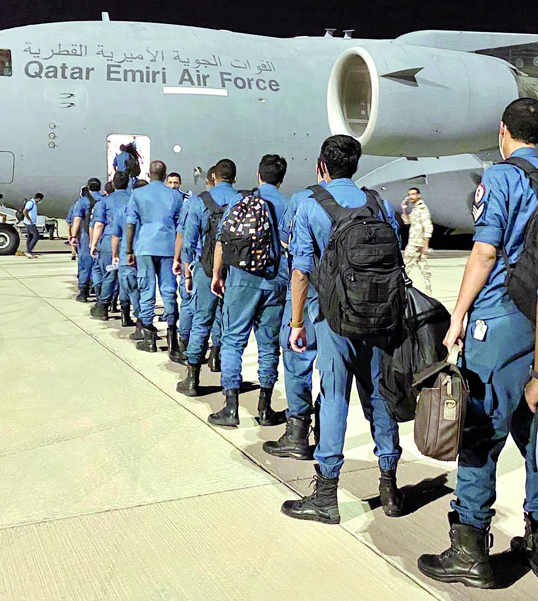 Lekhwiya search and rescue team air-dashed to Beirut