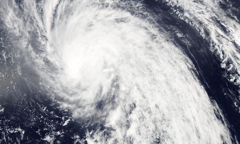 Typhoon Bavi approaching South Korea coast