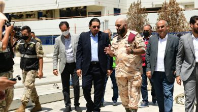 Photo of Qatari envoy inspects field hospital in Beirut