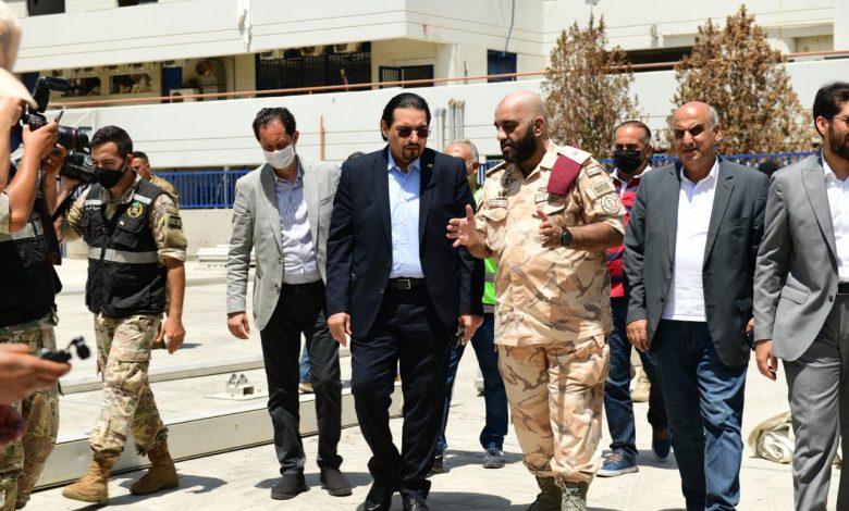 Qatari envoy inspects field hospital in Beirut