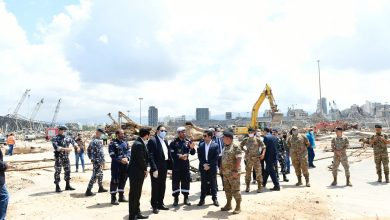 Photo of Ambassador visits Qatari search and rescue team at Beirut Port explosion site