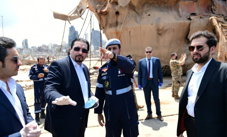 Ambassador visits Qatari search and rescue team at Beirut Port explosion site