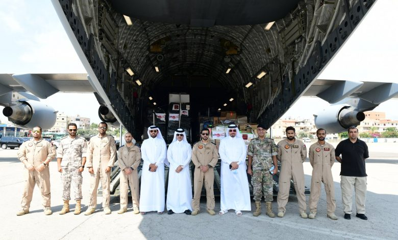 Three aircraft with aid from Qatar arrive in Lebanon
