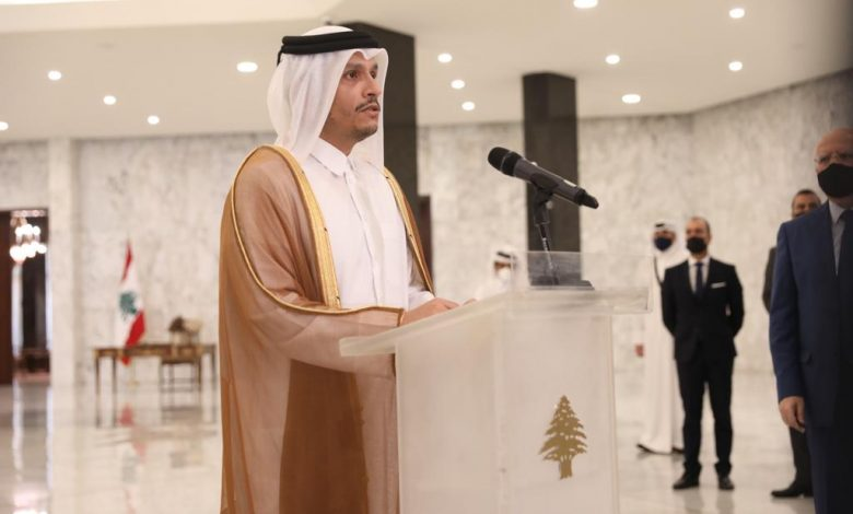 Foreign Minister: My visit to Beirut to confirm Qatar's support and solidarity with the Lebanese people