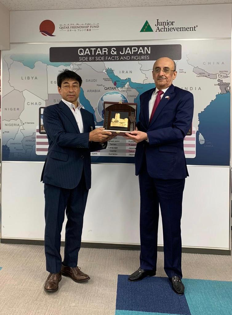 Qatar's Ambassador inspects facilities built by QFF in disaster-hit areas in Japan
