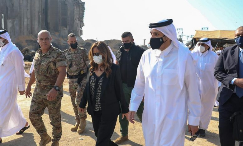 Foreign Minister Tours Site of Beirut Port Explosion