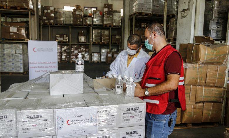 QRCS backs Gaza Municipality's efforts against COVID-19