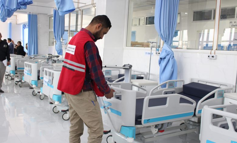 QRCS Provides Medical Support for Al-Jomhouri Hospital in Sanaa