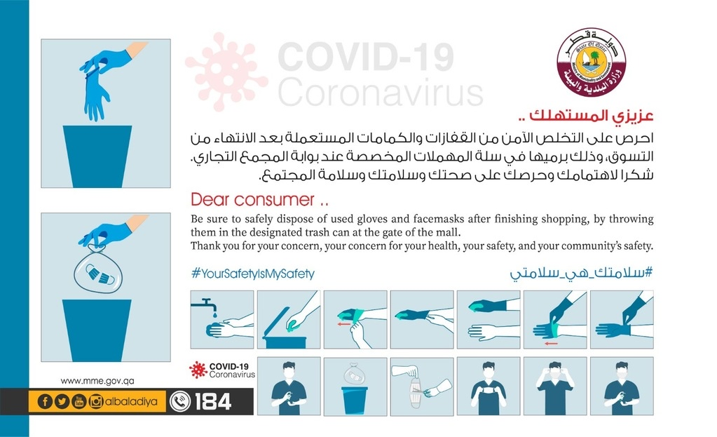 Ministry warns: throwing gloves and face masks is a threat to everyone