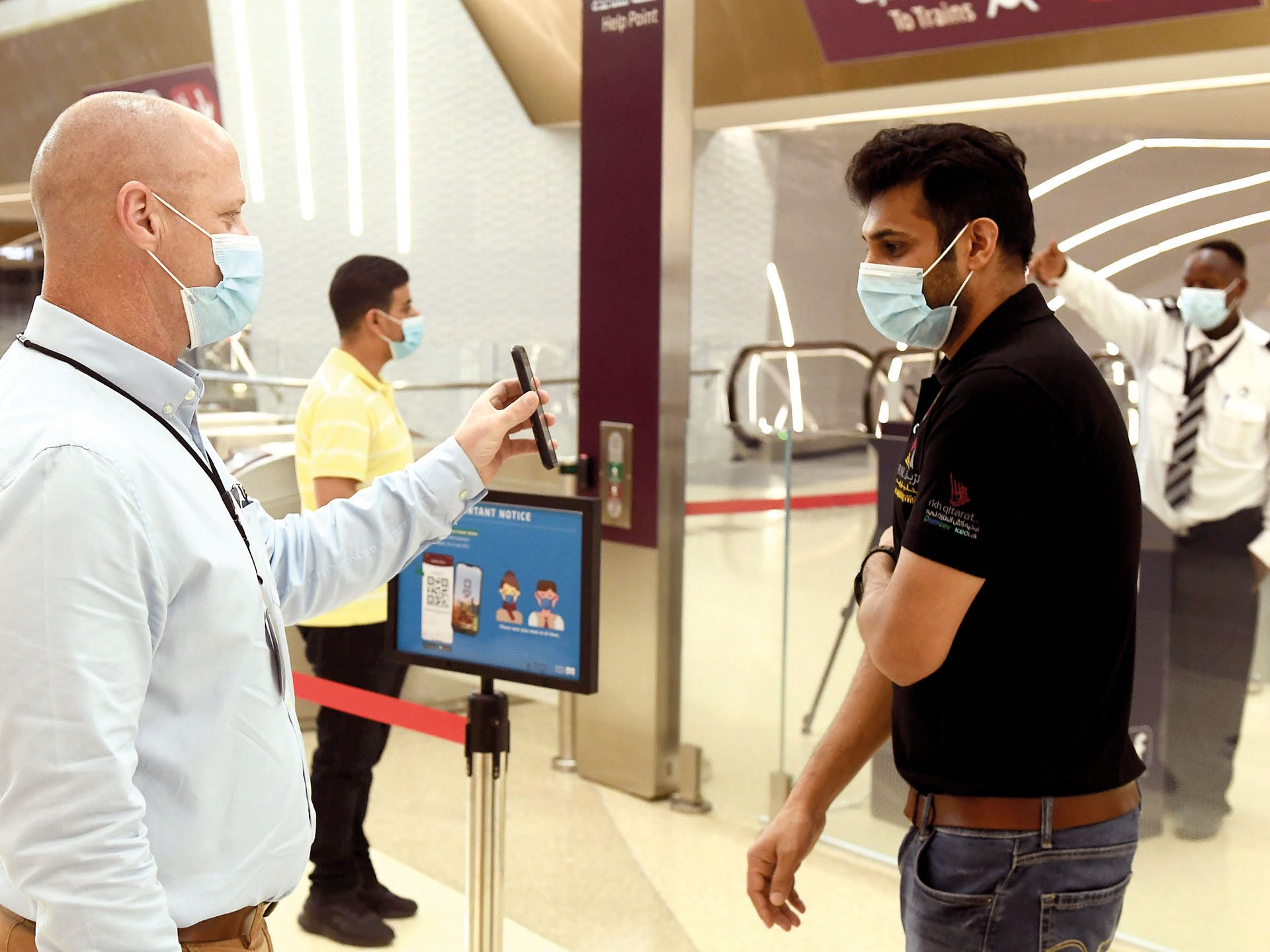 Hundreds of citizens and residents flocked to The Doha Metro on the first day of the resumption of operations