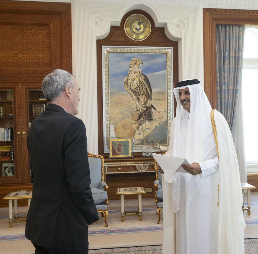 Amir receives credentials of seven new ambassadors