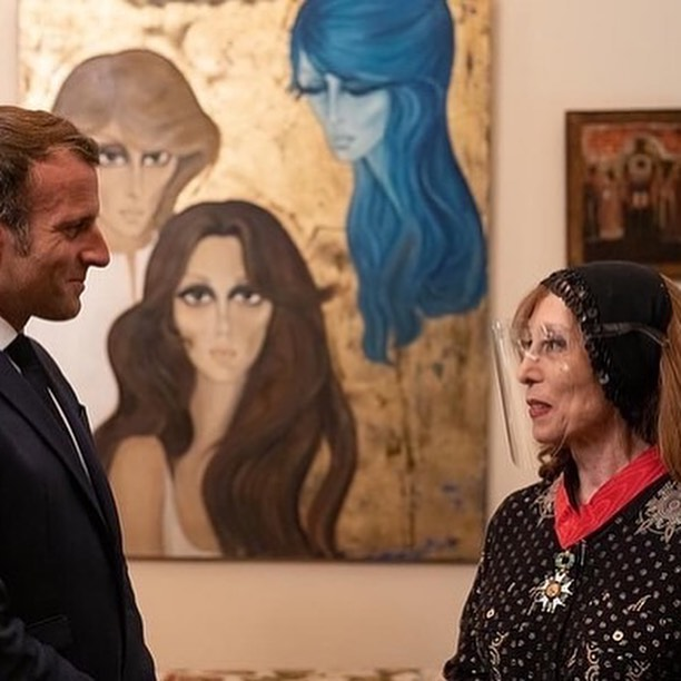 """""""a Gift and an ordinance"""" .. That's what happened in the French president's meeting with Fairuz"""