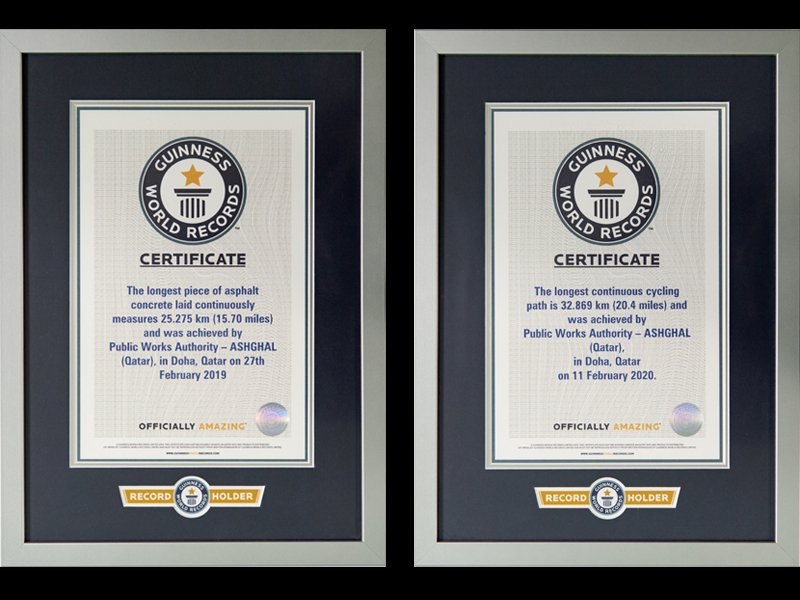 Ashghal Smashes Two Guinness World Records Titles