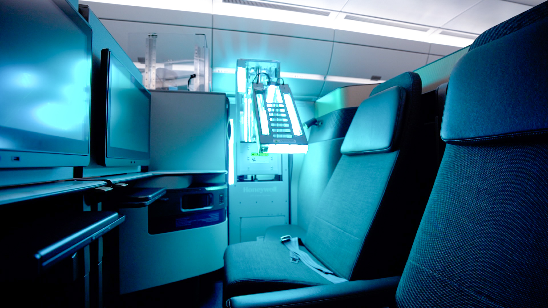 Qatar Airways is the first global company to use Honeywell devices to sterilize the cabin using UV rays