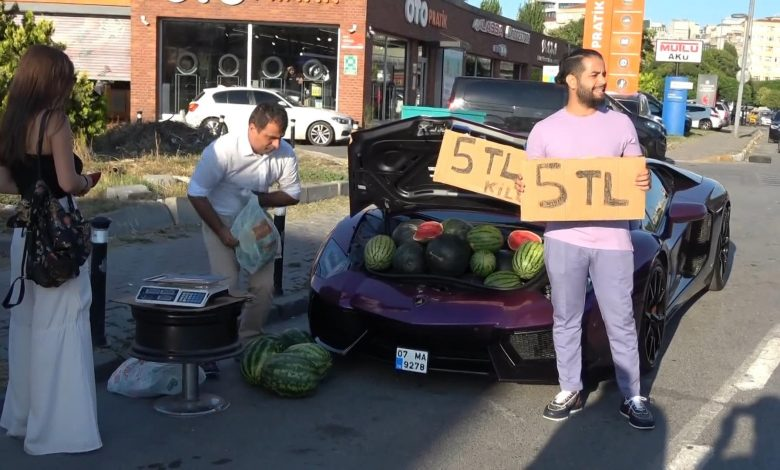Can you believe it? Video: Lamborghini used to sell watermelon!!
