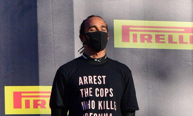 FIA looking into Hamilton anti-racism shirt gesture