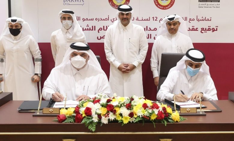 Prime Minister Witnesses Contract Signing for Construction of Eight Public Schools