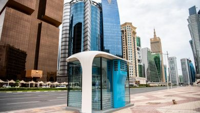 Photo of Qatar Rail setting up 300 AC bus shelters